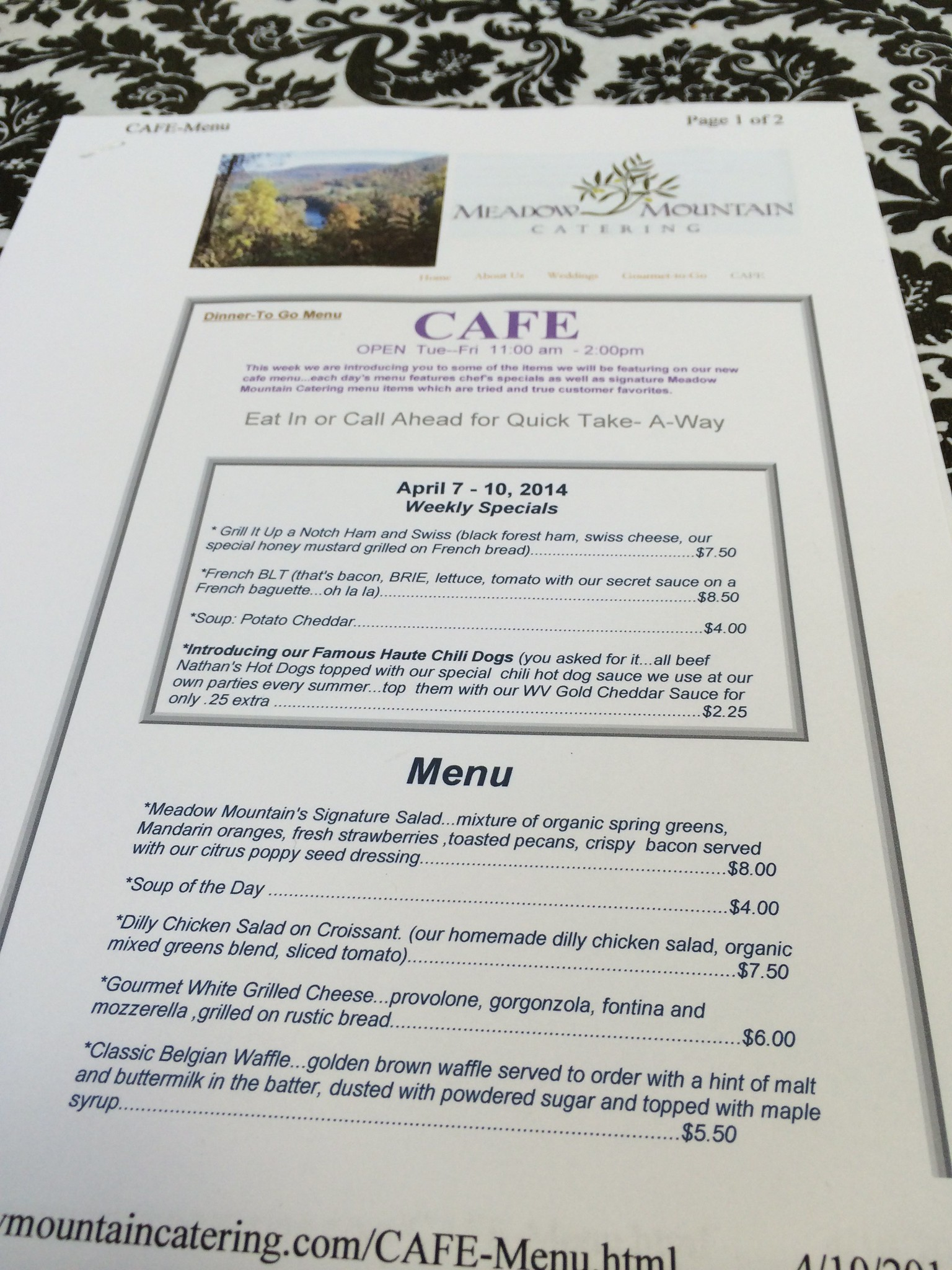 Meadow Mountain Catering Cafe