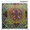MANDALA TILES CHECK GLOW GREEN swatch satin by paysmage by paysmage