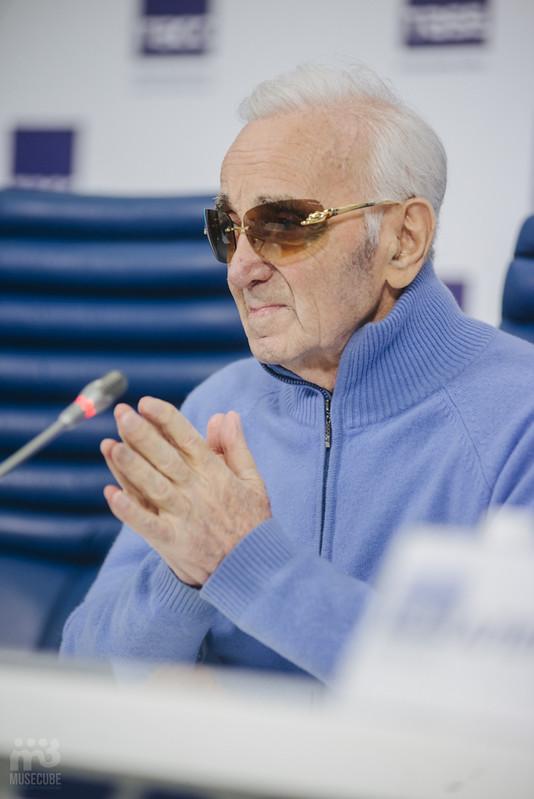 Шарль Азнавур пресс-конференция ТАСС (24)
