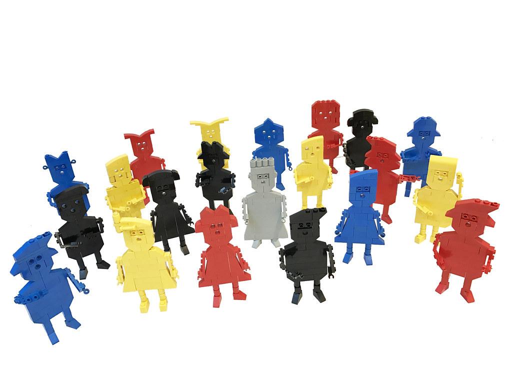 King in the Crowd (custom built Lego model)