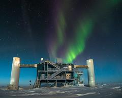 IceCube Lab under Auroras