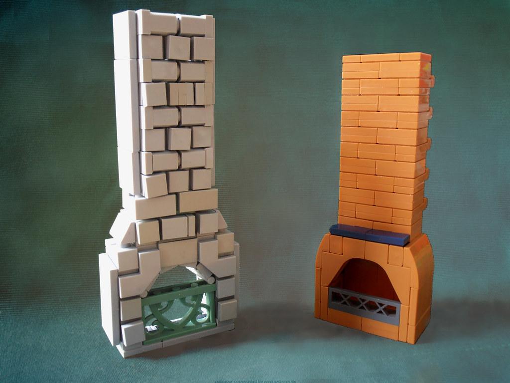 chimney designs (custom built Lego model)