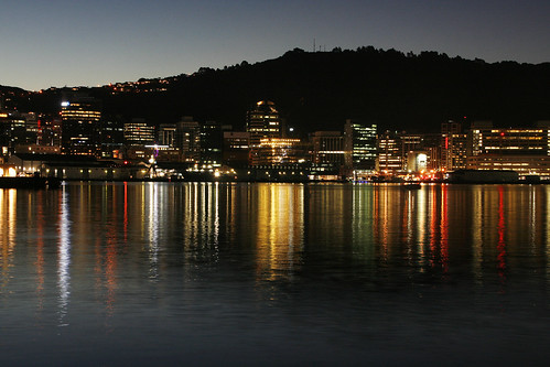 <p>A wonderful autumn evening on Wellington harbour.</p>