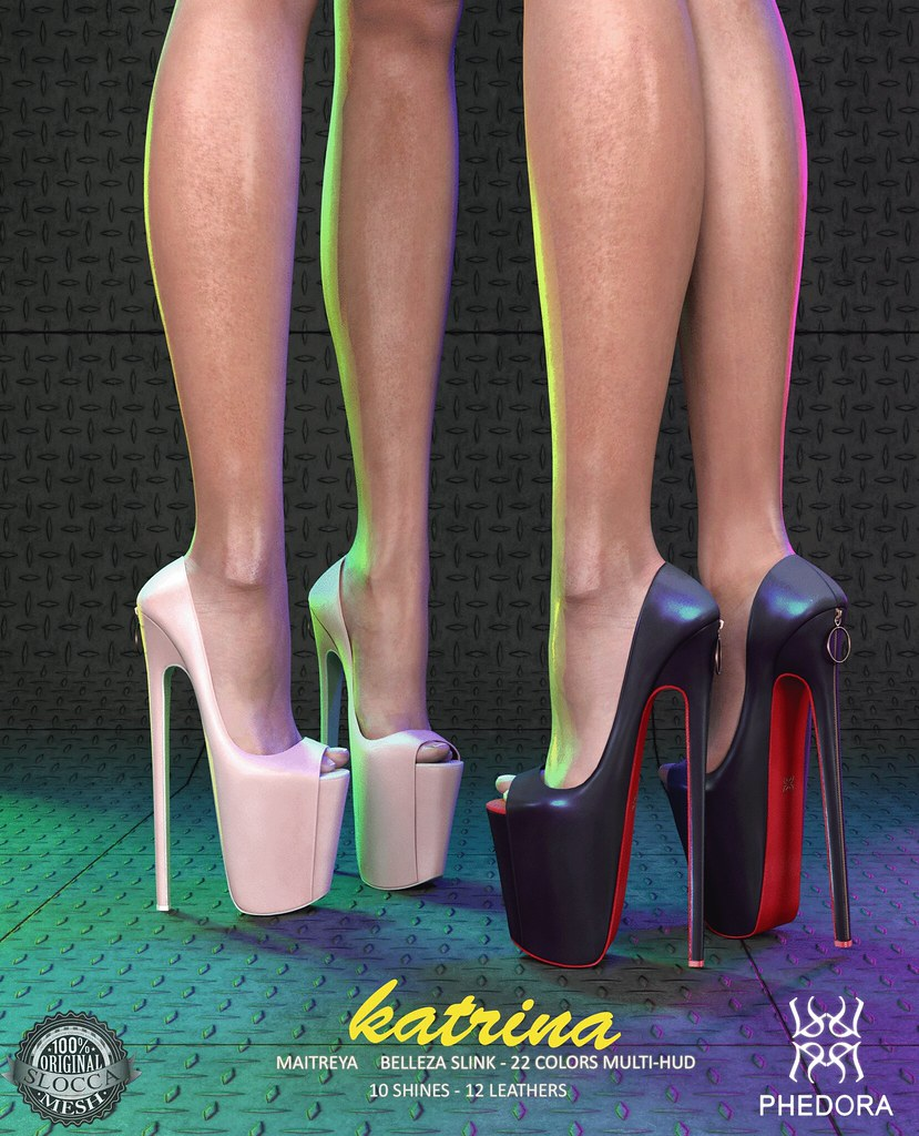 "Phedora for The Black Fair 2017 powered by WeDo SL Events- ""Katrina"" pumps! - SecondLifeHub.com"