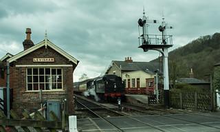 20170330-34_Black Five Engine 5MT 45407 + Train at Levisham Station