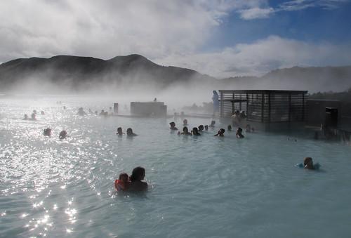 La Laguna Azul ( Blue Lagoon ) en Islandia