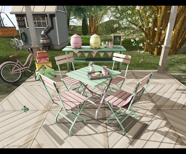 what next Garden Cafe Table (pink-green) for RFL Home and Garden Expo - 2