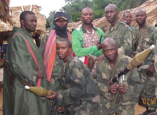 Bofenda with some of his comrades