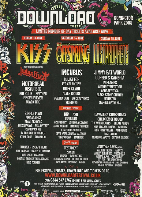 06/13 - 15/08 Download 2008 @ Donington Park, Leicestshire, England