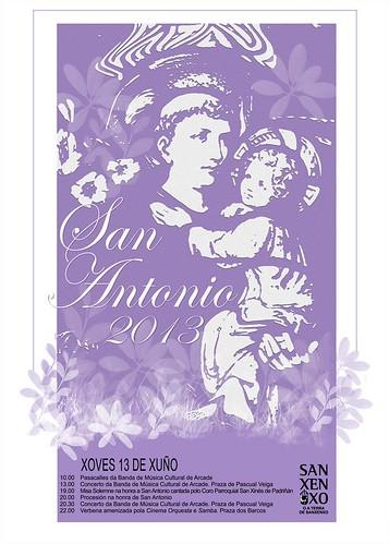 Sanxenxo 2013 - Festas de San Antón - cartel