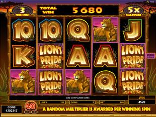 Lion's Pride Free Spins