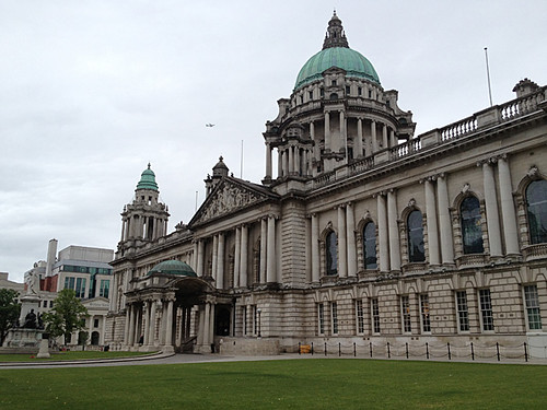 Belfast City Hall (and a plane)