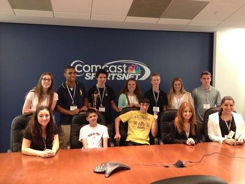NSLC COMM visits Comcast Sportsnet DC