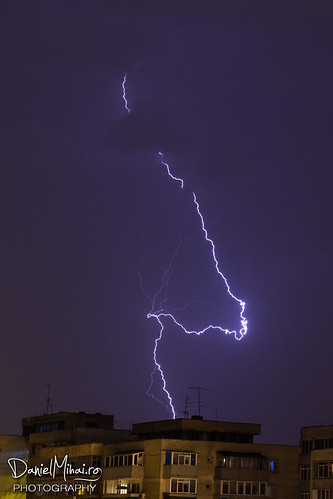 Lightning storm, Bucharest, 2013 by Daniel Mihai