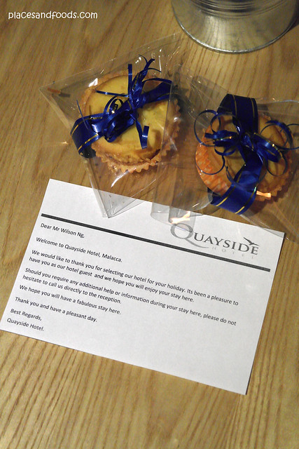 quayside hotel welcome note