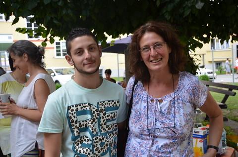Elke Kahr mit Sohn