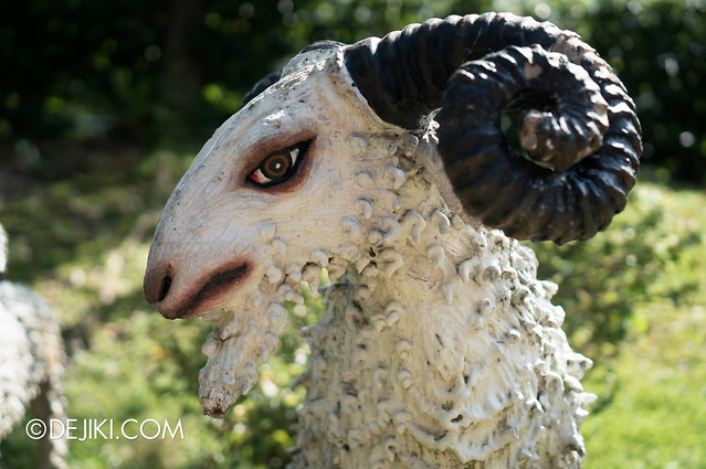 Haw Par Villa - sheep with curved horn