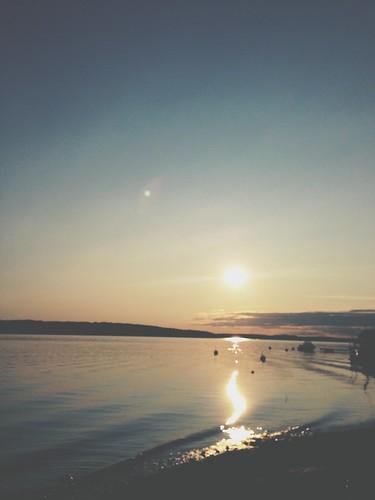 sunset summer hazy