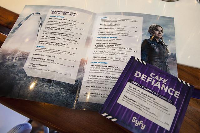 Defiance Cafe - menu interior