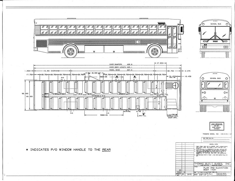 school bus driver seat dimensions