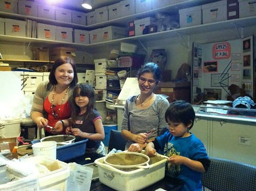 Rebecca's first lab night at the Rosewell Visitor's Center