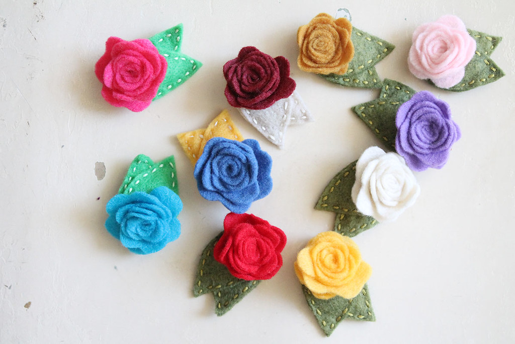 scattered rosie hair clips