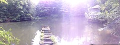 panoramic - monk's pond - sunken dock and house