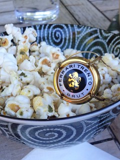 Popcorn with Butter and Fresh Sage