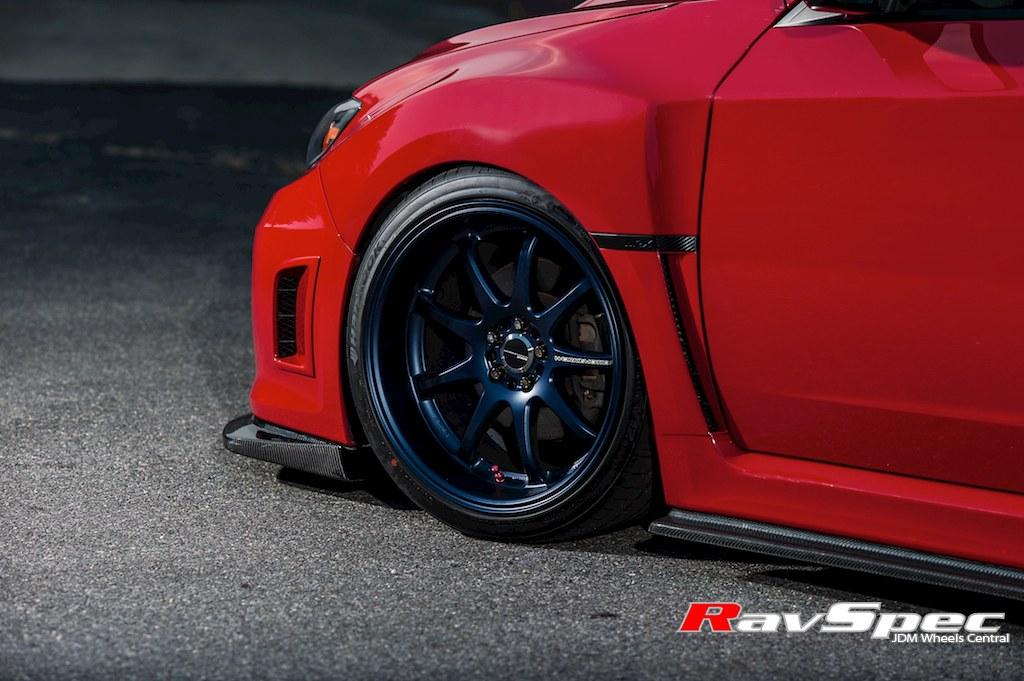 Work Emotion Xd9 Matte Blue On Subaru 2011 Wrx Ravspec Inc