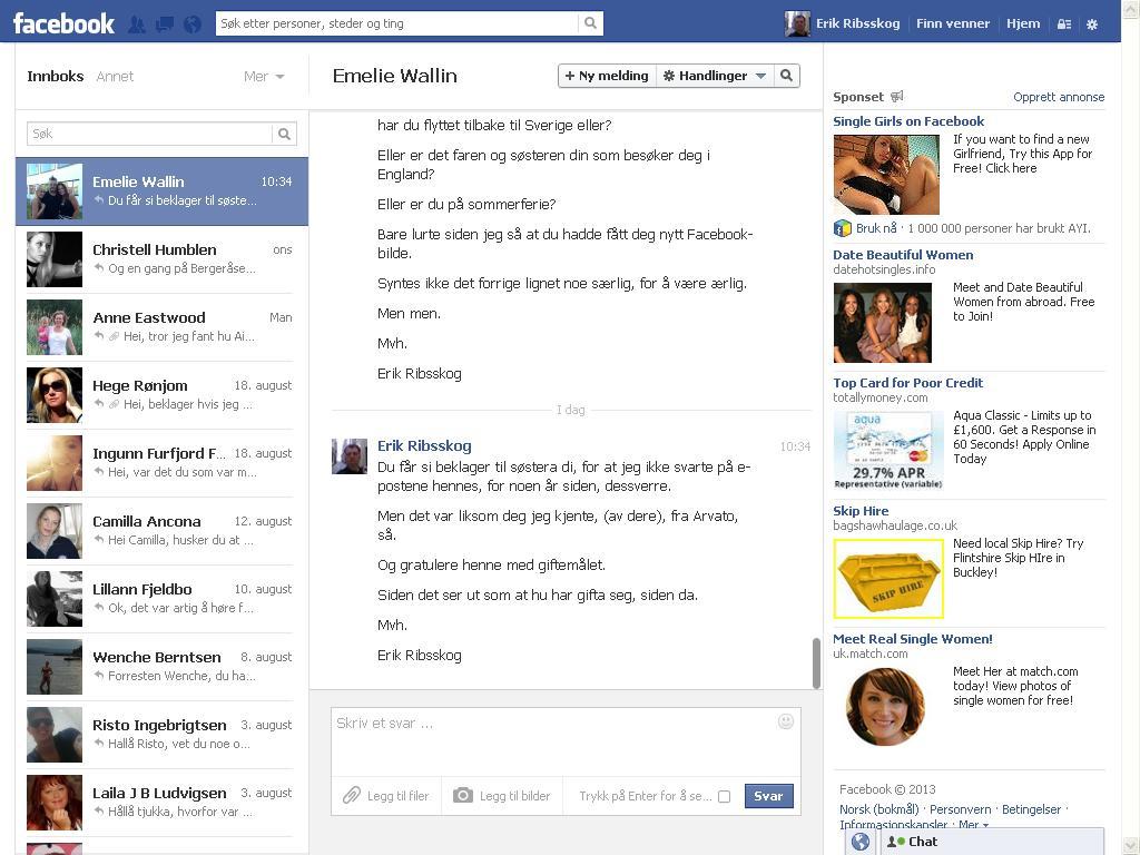 facebook wallin