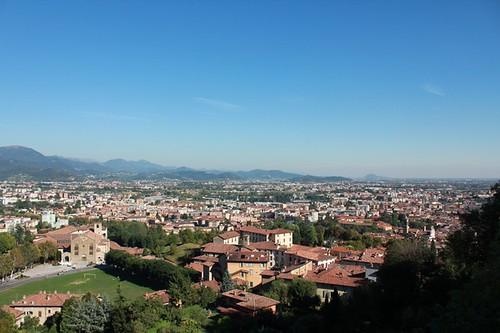 Rocca: vista di Bergamo bassa