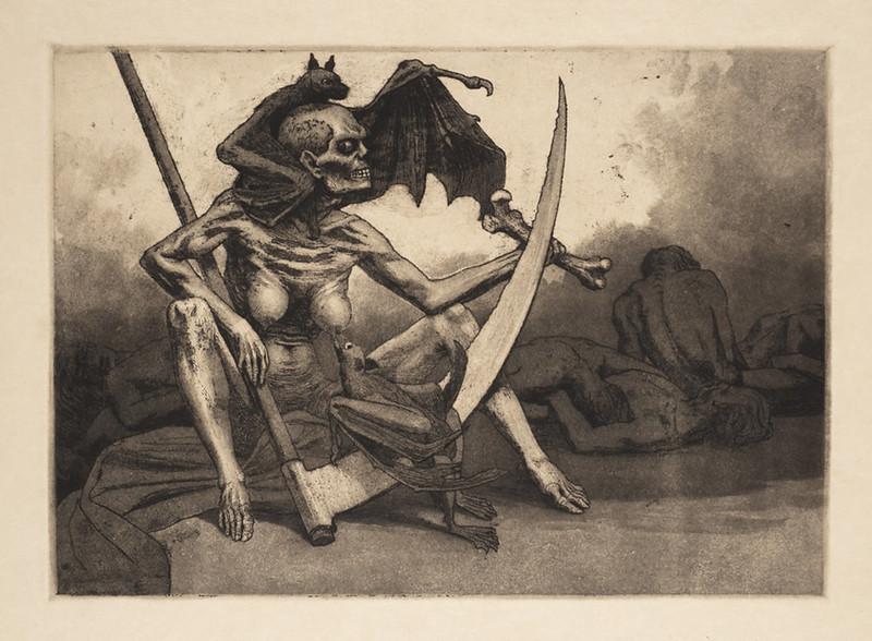 Valère Bernard - Le Répit (La Mort allaitant une chauve-souris)