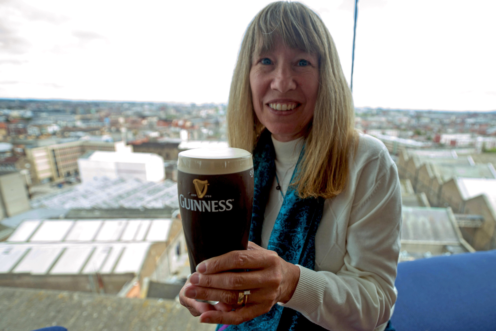 Cynthia and her Guiness
