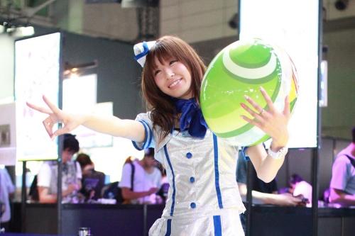 東京ゲームショウ2013 セガの美人コンパニオンさん
