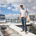 Ted Power welcomes us to his houseboat slip, Marina 69, Far Rockaway. by finitor