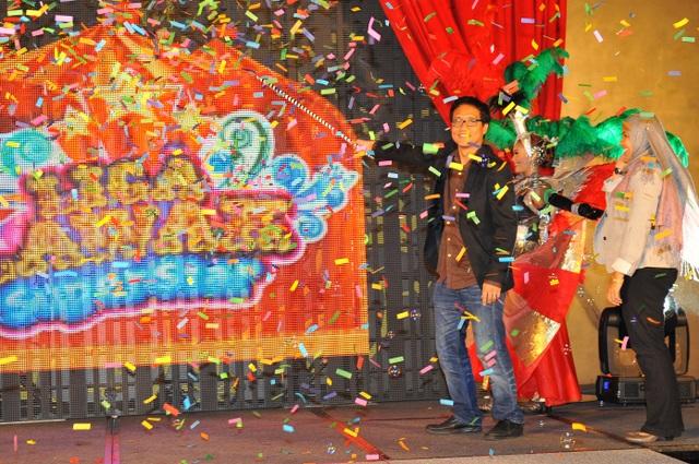 Encik Ahmad Izham Omar, Ketua Pegawai Eksekutif Kumpulan, Rangkaian Televisyen, Media Prima Berhad melancarkan program Liga Lawak Superstar