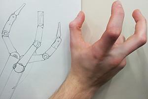 Sketch of the Anthropomorphic MIS (minimal invasive surgery) instrument