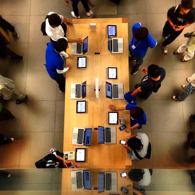 Applemanía :) En AppleStore de Ginza, Tokio Momento geek del #epvjapon