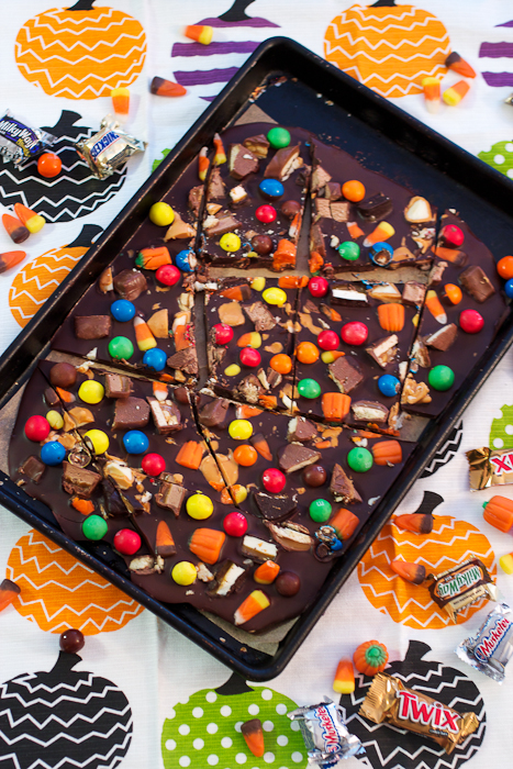 Halloween Candy Bark #ChocolateParty