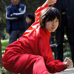 child(0.0), cosplay(0.0), clothing(1.0), red(1.0), chinese martial arts(1.0), costume(1.0),