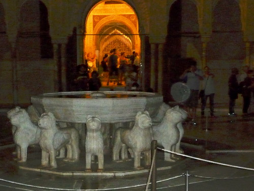 Andalusien Granada Alhambra Patio de los Leones