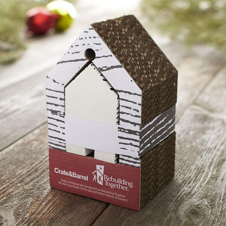 Wood Grain House Ornament Packaging