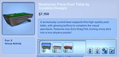 Newtonian Plane Pool Table by Corebital Designs