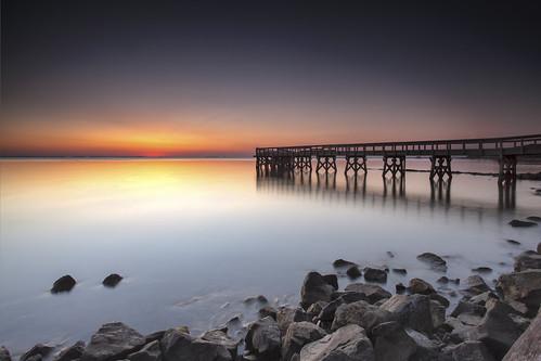 longexposure sunrise reflections dawn pier horizon maryland boulders pasadena chesapeakebay waterscape downspark rockhopping