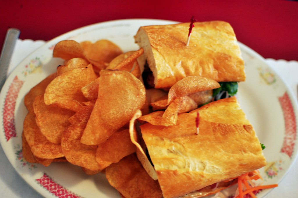 Red Wagon Vancouver Sunrise Nomss.com Crispy Pork Sandwich Pulled Pork Pancake