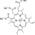 銅葉綠素納結構式Chlorophyllin。圖片來源:邱品齊