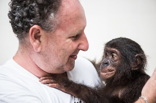 Portrait of Andrew with a Lola orphan