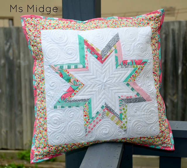 Paper pieced Lonestar Cushion