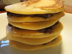 english muffin(0.0), cheeseburger(0.0), meal(1.0), breakfast(1.0), hamburger(1.0), crumpet(1.0), produce(1.0), food(1.0), dish(1.0), breakfast sandwich(1.0), pancake(1.0),