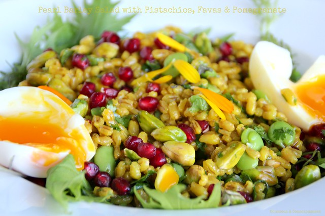 Pearl Barley Salad with Pistachios, Favas & Pomegranate 2